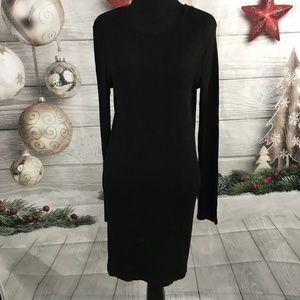 ASOS Crewneck Long Sleeve Dress Black Size 12